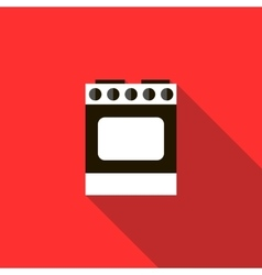 Stove for cooking icon flat style vector