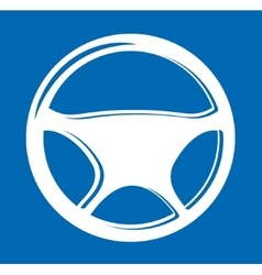 Sign in the form of auto steering wheel vector