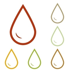 Drop of water sign vector