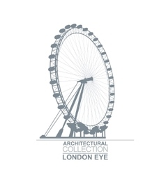London eye wheel vector