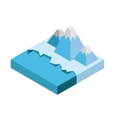 Iceberg mountain icon isometric design vector