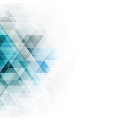 abstract blue triangles geometric background vector image vector image