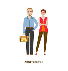 Adult couple character family without children vector