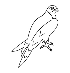 Arabian falcon icon outline style vector
