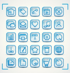 Blue icons vector image vector image