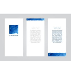 blue square brochure vector image