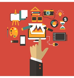 Business concept with hand vector image