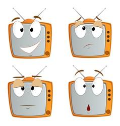 cartoon tv vector image vector image