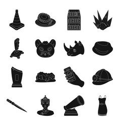 Clothes mine weapons and other web icon in black vector