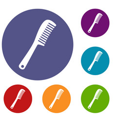 Comb icons set vector