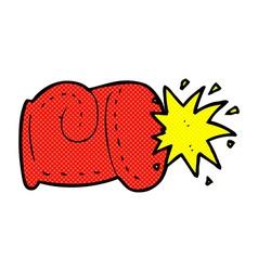 Comic cartoon punch vector