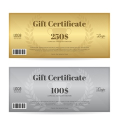Elegant gift certificate or gift voucher template vector image