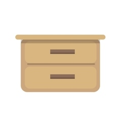 Flat design of cupboard vector image vector image