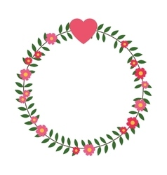 flower crown icon vector image