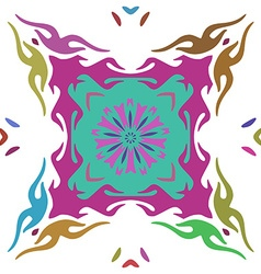 Hand drawn colorful floral ornament isolated on vector image vector image