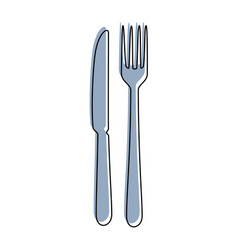 knife and fork icon vector image