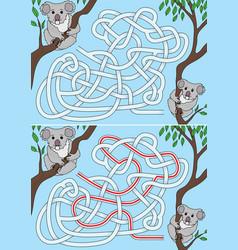 Koala maze vector