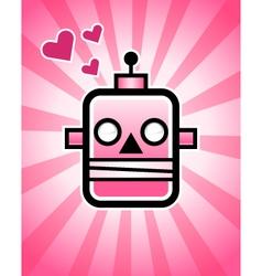 Love retro robot vector
