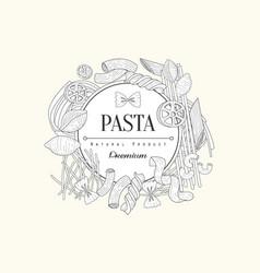 pasta collection vintage sketch vector image