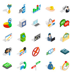 Payment icons set isometric style vector
