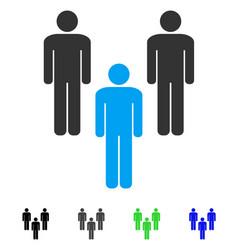 People community flat icon vector