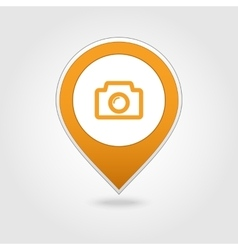 Photo Camera map pin icon vector image