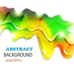 Rainbow paint dripping vector image