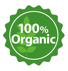 Seal icon for organic product vector