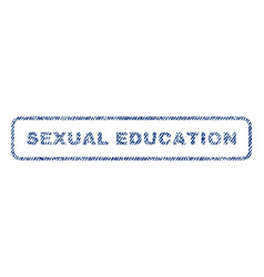 sexual education textile stamp vector image vector image