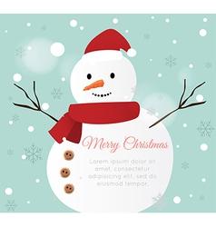 Snow man card vector