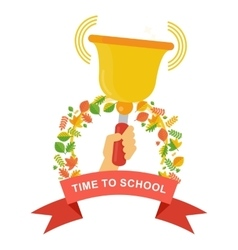 time to school poster vector image
