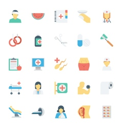 Medical and health colored icons 4 vector