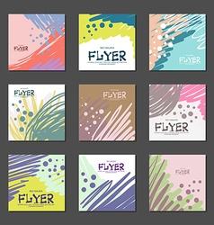 Collection of bright abstract cards for your vector