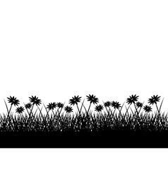 Grass plant silhouette design vector image