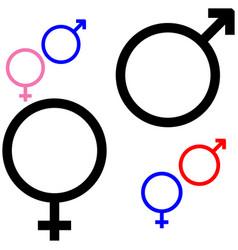 Symbol of gender symbol mars and venus vector