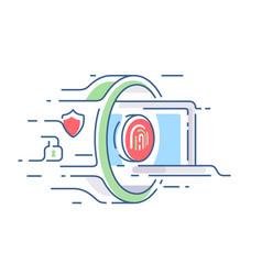 Digital security of information vector