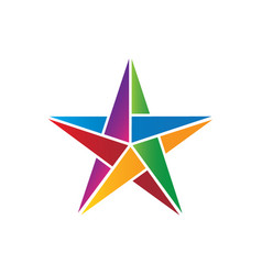 Colorful star image vector