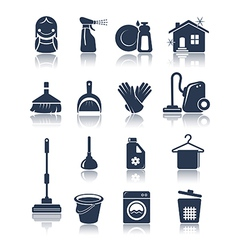 Cleaning blue icons vector