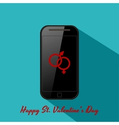 Valentines background in flat design style vector