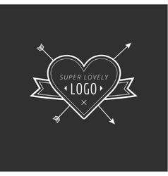 Vintage hipster design element for logo vector