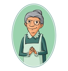 Elderly woman characters vector