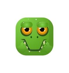 Crocodile Square Icon vector image