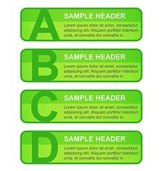 Abcd options blocks vector
