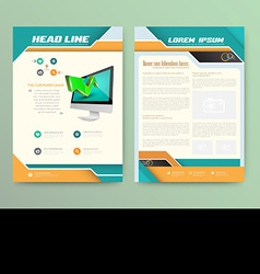Abstract brochure template flyer layout flat style vector