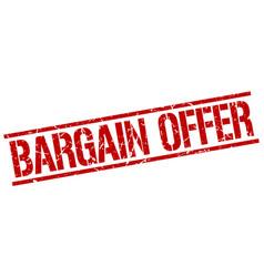 Bargain offer stamp vector