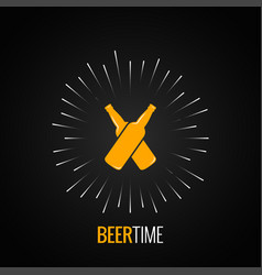 beer bottles logo concept design background vector image vector image
