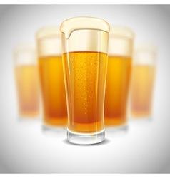 Beer mugs vector
