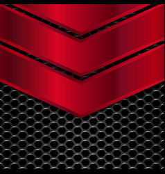 Black and red metal background vector image