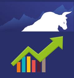 Bull wall street exchange stock vector