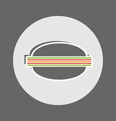 Cheeseburger flat icon vector